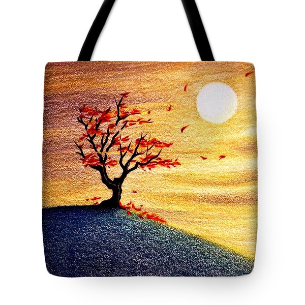 Little Autumn Tree Tote Bag by Danielle R T Haney
