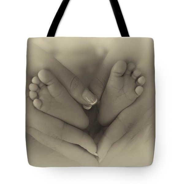 Little Bambino Toes Surrounded By Love Tote Bag by Thomas Woolworth