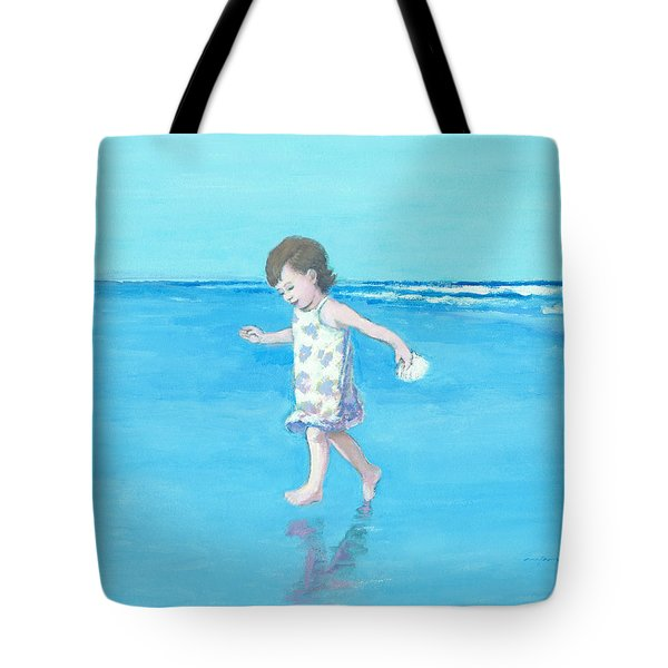 Little Beach Girl Tote Bag