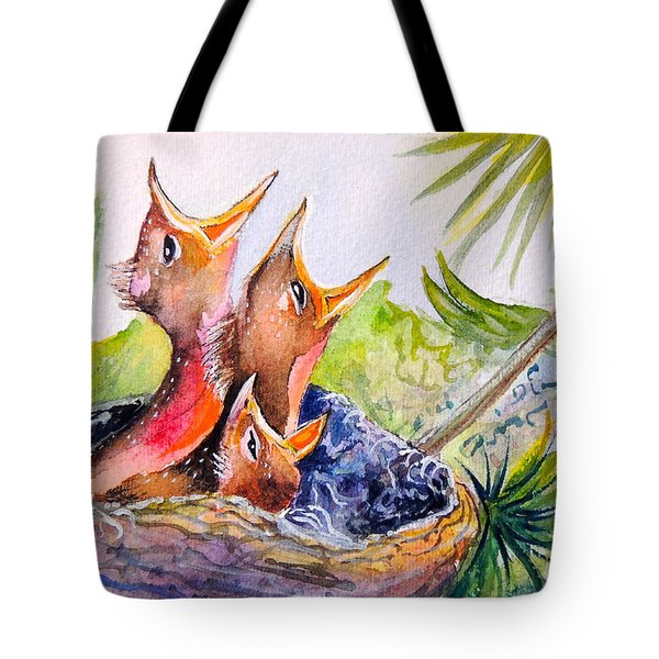Little Beaks Tote Bag by Patricia Piffath