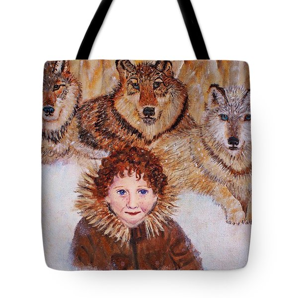 Little Bernard And The Wolves Tote Bag by The Art With A Heart By Charlotte Phillips