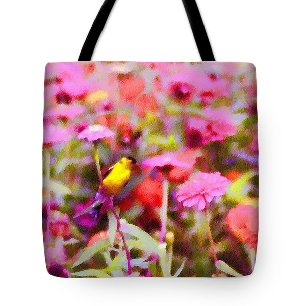 Little Birdie In The Spring Tote Bag by Bill Cannon
