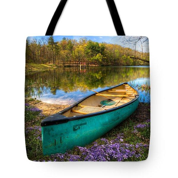 Little Bit Of Heaven Tote Bag by Debra and Dave Vanderlaan