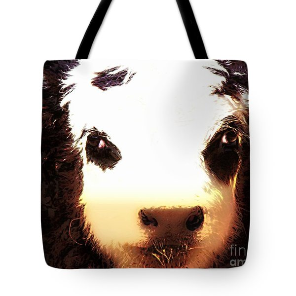 Little Black Baldy Tote Bag by Barbara Chichester