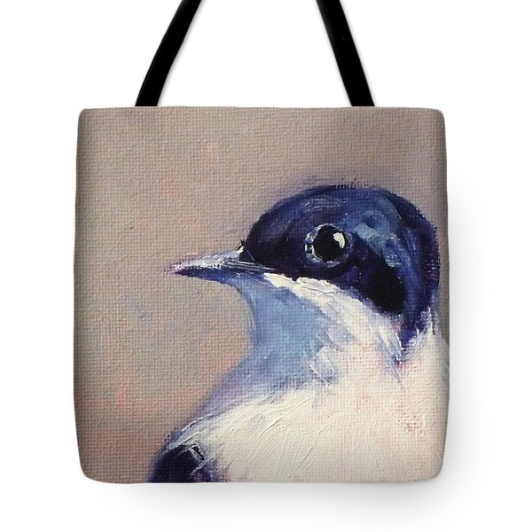 Little Blue And White Tote Bag
