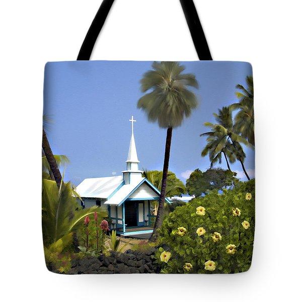 Little Blue Church Kona Tote Bag