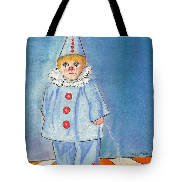 Little Blue Clown Tote Bag