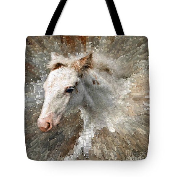 Little Blue Eye Tote Bag by Liz  Alderdice
