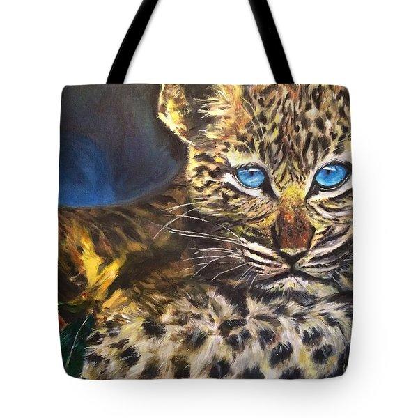 Little Blue Eyes Tote Bag by Belinda Low