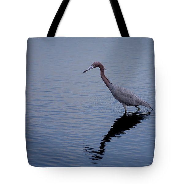Tote Bag featuring the photograph Little Blue Heron On The Hunt by John M Bailey