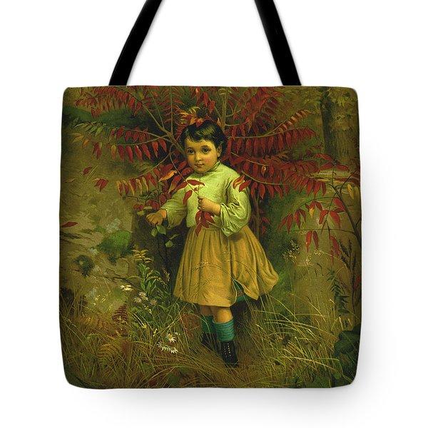 Little Bo Peep 1867 Tote Bag by JG Brown