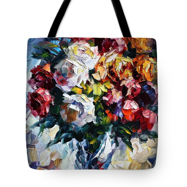 Little Bouquet Tote Bag by Leonid Afremov