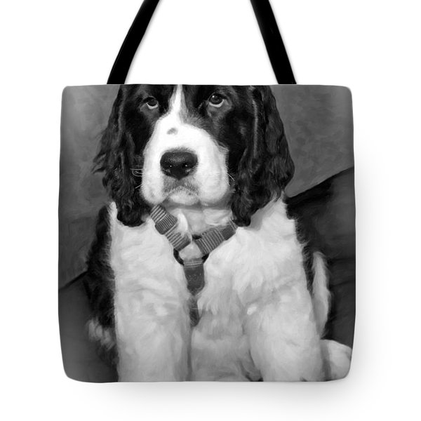 Little Boy Blue Oil Bw Tote Bag by Steve Harrington