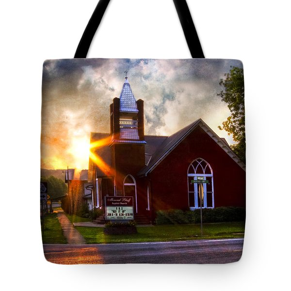 Little Brick Chapel Tote Bag by Debra and Dave Vanderlaan