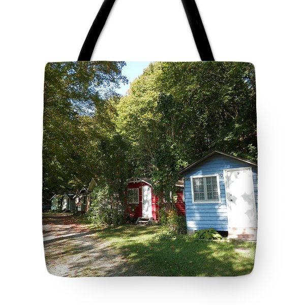 Little Cabins Tote Bag by Pema Hou