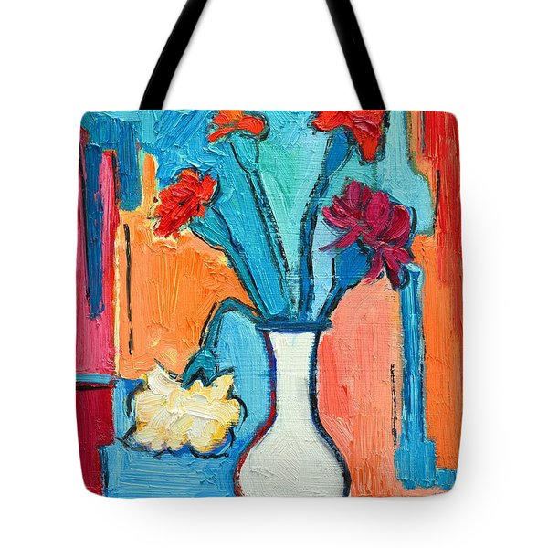 Little Carnations China Pink Flowers Tote Bag by Ana Maria Edulescu