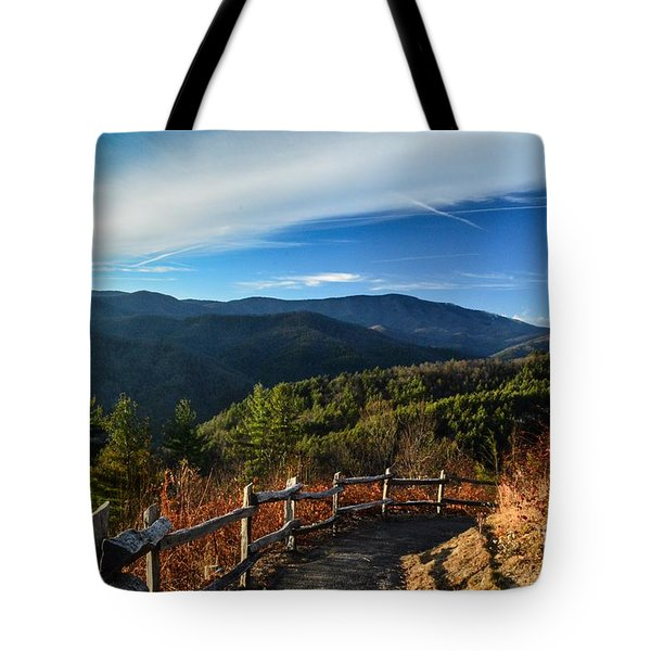 Tote Bag featuring the photograph Little Cataloochee Overlook In Summer by Debbie Green