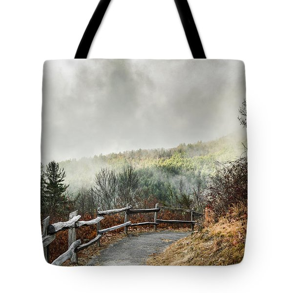 Tote Bag featuring the photograph Little Cataloochee Overlook In The Great Smoky Mountains by Debbie Green