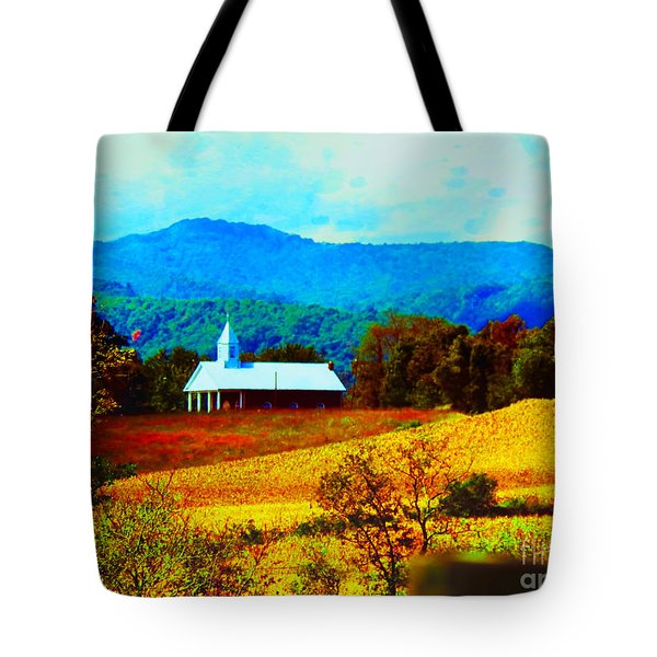 Little Church In The Mountains Of Wv Tote Bag