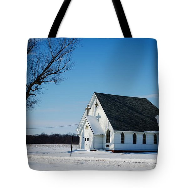 Little Church On The Prairie Tote Bag by Luther Fine Art