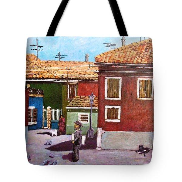 Little Corner Of Venice Tote Bag by Caroline Street