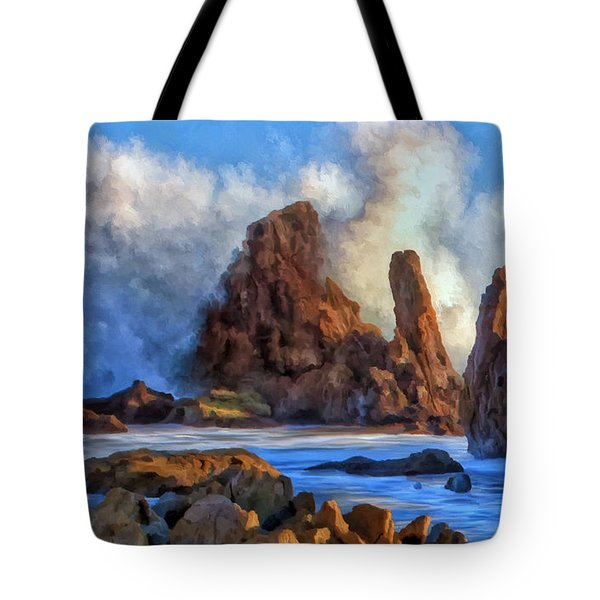 Tote Bag featuring the painting Little Corona by Michael Pickett