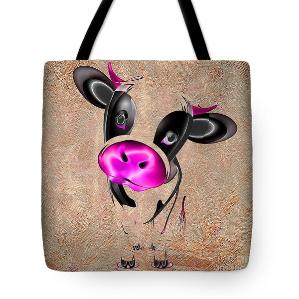 Little Cow Tote Bag by Liane Wright