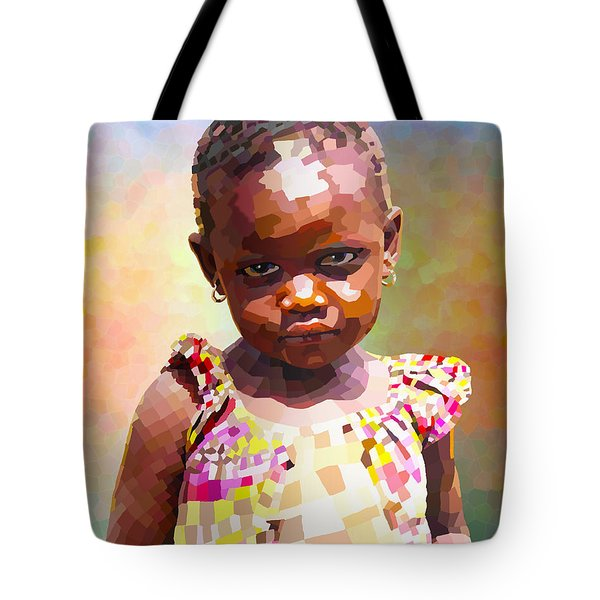 Little Cute Girl Tote Bag