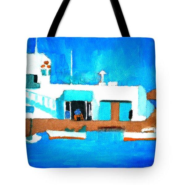 Paros  Cute Spot On Greek Island Tote Bag