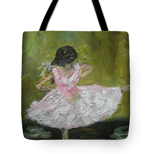 Tote Bag featuring the painting Little Dansarina by Reina Resto