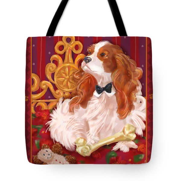 Little Dogs - Cavalier King Charles Spaniel Tote Bag