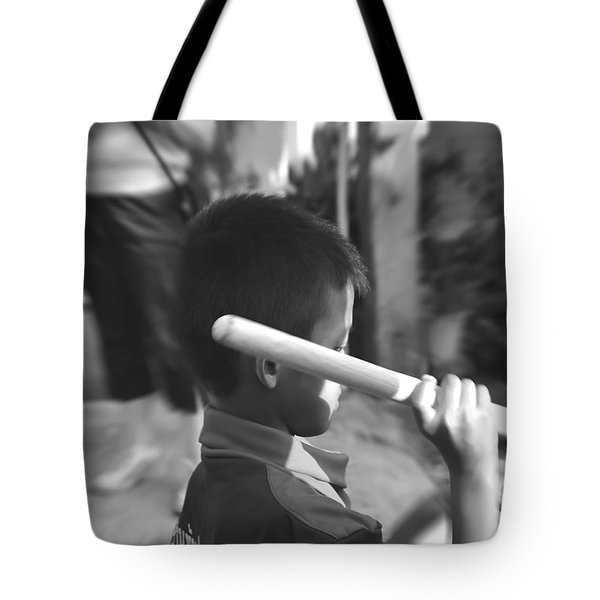 Tote Bag featuring the photograph Little Drummer by Michelle Meenawong