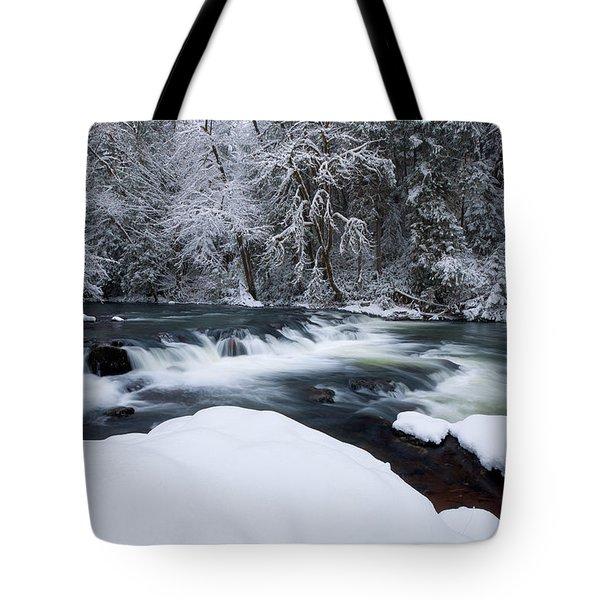 Little Fall Creek Winter Tote Bag