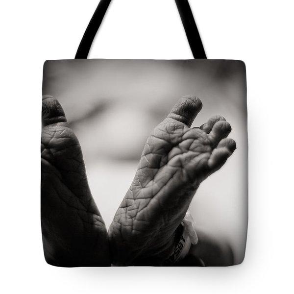 Little Feet Tote Bag by Adam Romanowicz