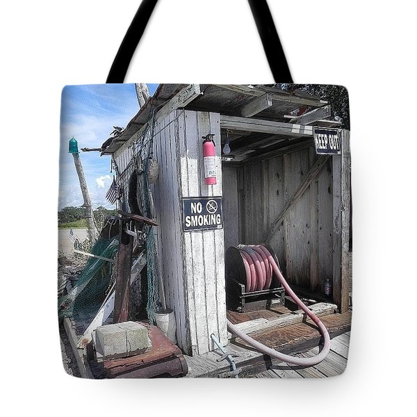 Little Gas Shack Tote Bag by Patricia Greer