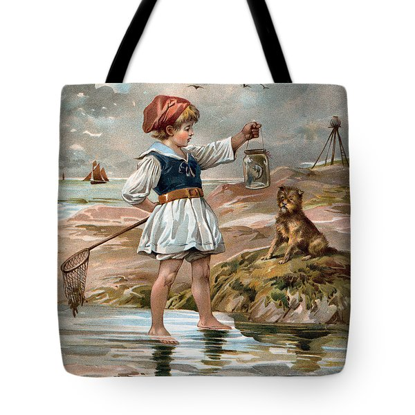 Little Girl At The Beach Tote Bag by Unknown