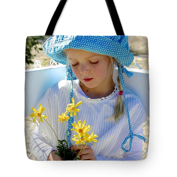 Little Girl Blue  Tote Bag by Suzanne Oesterling