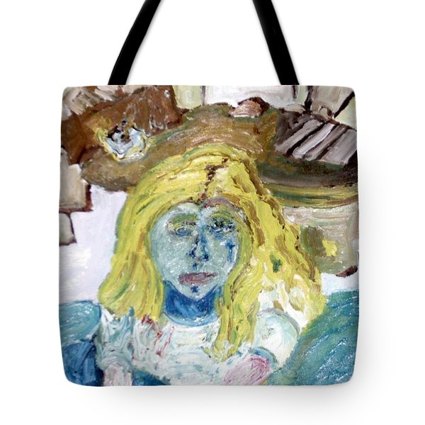 Little Girl Drawing Tote Bag