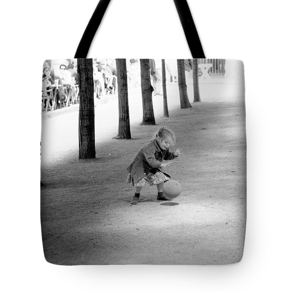 Little Girl With Ball Paris Tote Bag
