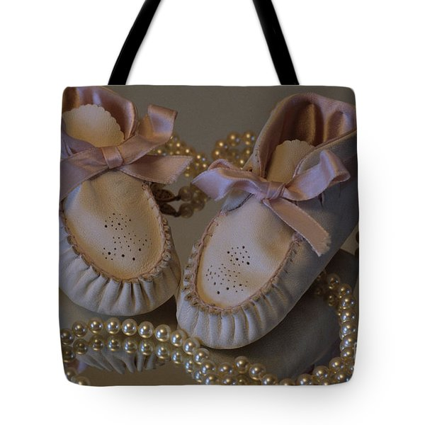 Little Girls To Pearls Tote Bag by Sharon Elliott