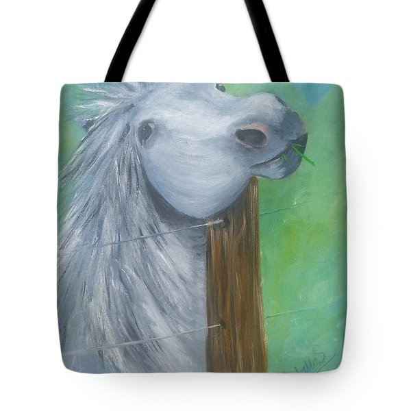 Little Grey Has An Itch Tote Bag