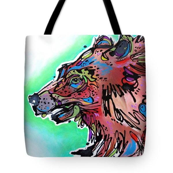 Tote Bag featuring the painting Little Griz by Nicole Gaitan