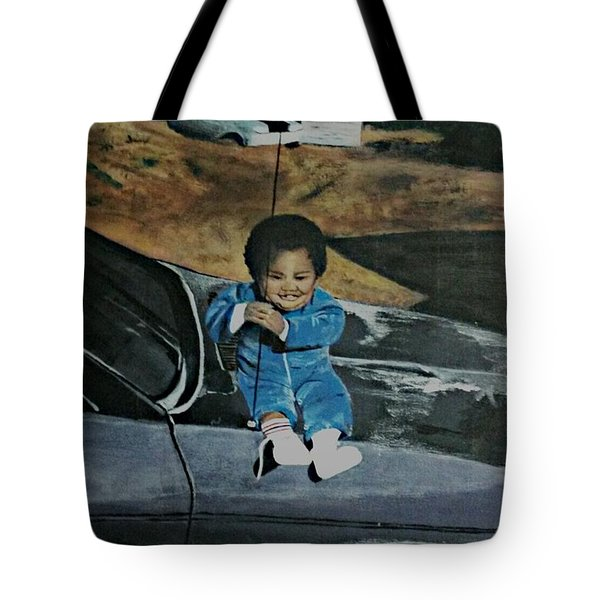 Tote Bag featuring the painting Captured Childhood Memories  by Joetta Beauford