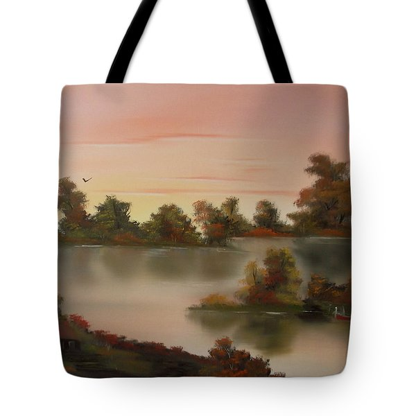 Little Haven At Sunset Tote Bag by Cynthia Adams