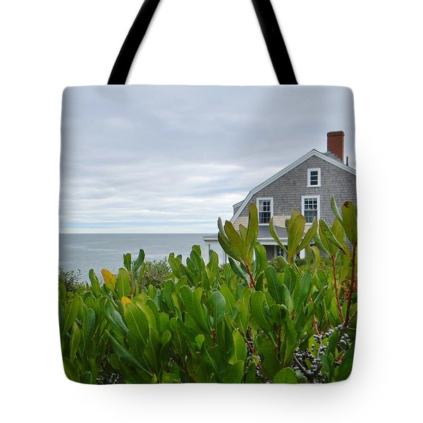 Little House By The Sea Tote Bag by Jean Goodwin Brooks