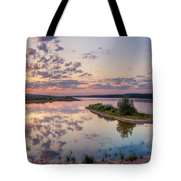 Little Island On Sunset Tote Bag