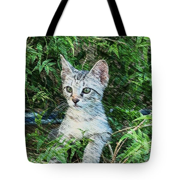 Little Kitten Tote Bag by Kathy Churchman