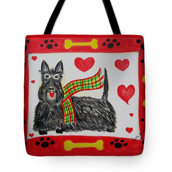 Tote Bag featuring the painting Little Lassie by Diane Pape