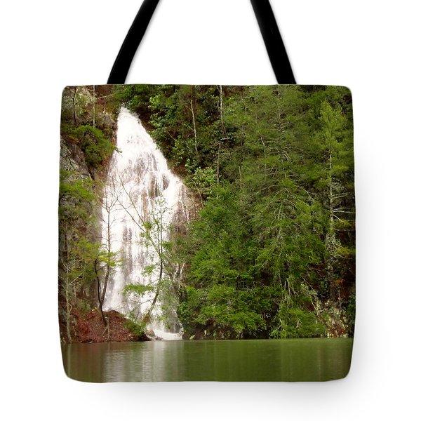 Little Laurel Branch Falls Landscape Tote Bag