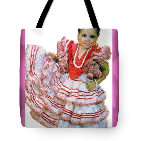 Tote Bag featuring the painting Little Lidia by Bruce Nutting